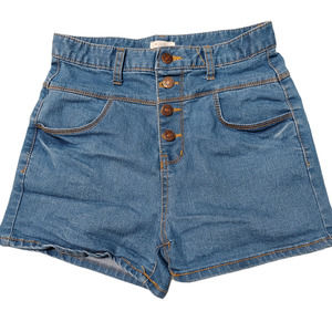 W. Closet Vintage Button Fly High Rise Shorts